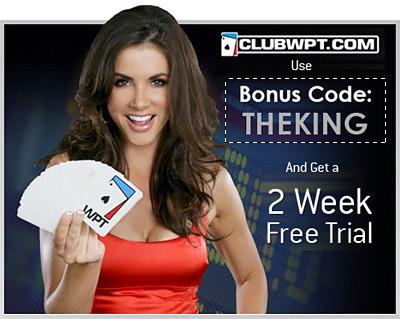 ClubWPT Bonus Code: THEKING
