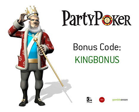 King presenting the September 2010 - Party Poker Bonus Code - KINGBONUS