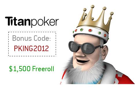 Titan Poker Bonus Code 2012 - King with Funky Sunglasses