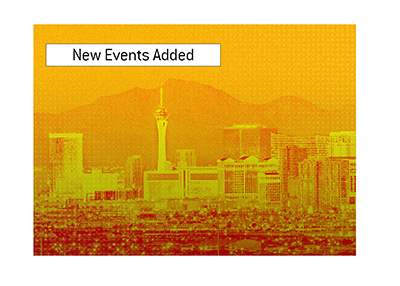 Nineteen brand new events have been recently added to the upcoming World Series of Poker. Vegas skyline.
