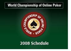 poker king - 2008 wcoop schedule - pokerstars - world championship of online poker