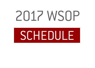 The 2017 World Series of Poker schedule.