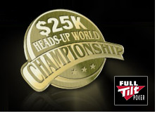 winner of the 25k heads up world championship at full tilt poker - slaktarn - tournament logo