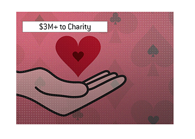 Over $3 million dollars from the poker tournament are going to charity.