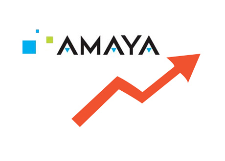 Amaya stock chart - Illustration - Rising