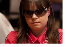 Annette Obrestad - Young poker player from Norway - Very serious in this photo