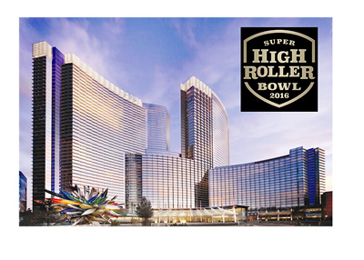 The Aria hotel in Las Vegas - home of the Super High Roller 2016 tournament