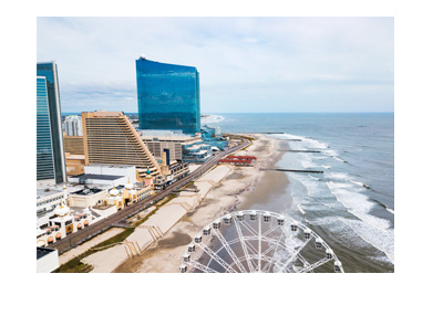 The Atlantic City - State of New Jersey - Carousel wheel - Areal photo.