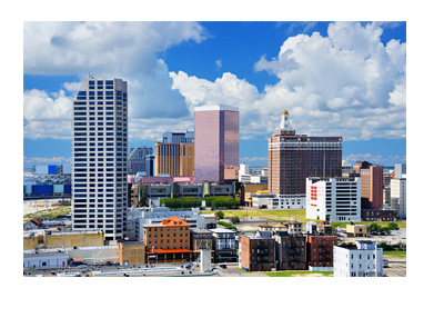 Atlantic City - New Jersey - Sunny day with a few clouds - Panorama