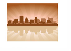 Atlantic City Skyline - Illustration