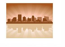 Atlantic City Skyline - Illustration