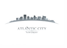 The Atlantic City - New Yersey - Skyline - Illustration