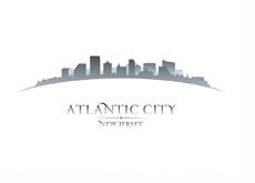 The Atlantic City - New Yersey - Skyline - Illustration