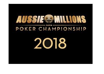 Aussie Millions Poker Championship - 2018 logo and brand.