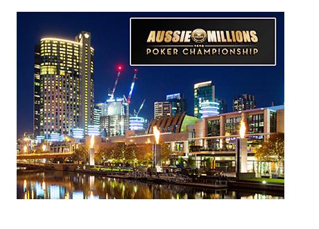 Melbourne skyline - Crown Hotel - Night shot - Aussie Millions Poker Championship 2015