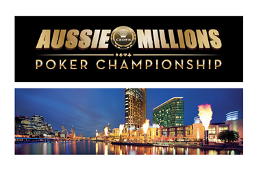 Aussie Millions - Crown Hotel Melbourne panorama