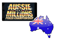 logo aussie millions 2009 - map of australia