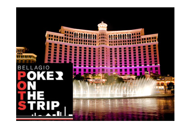 Poker on the Strip - Bellagio Twitch channel - Logo over photo.