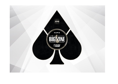 The 2018 version of the Big One for One Drop logo.  Black and white, stylized.