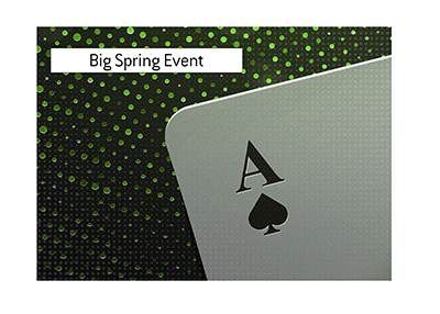 The big spring season online poker tournament is approaching.