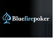 company logo - blue fire poker