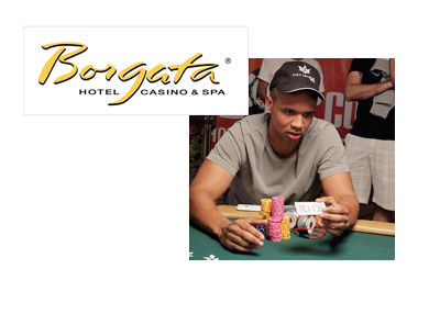Borgata Hotel Casino and Spa - Logo - Photo of Phil Ivey folding cards - Instagram