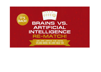 Brains vs. Artificial Intelligence - Rematch - Event poster.