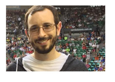 Poker player Brian Rast at a sporting event.  Social media photo.