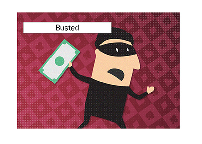 Thief is busted - Pop art - Illustration.