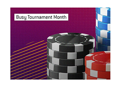 March 2020 looks to be a busy month for online tournament poker players.