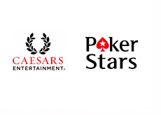 Caesars Entertainment and Pokerstars Logos