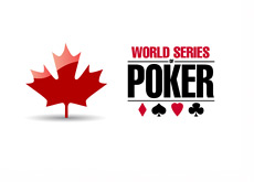 Canada Maple Leaf next to the World Series of Poker (WSOP) Logo