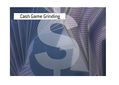 Cash game grinding rewarded. Illustration.