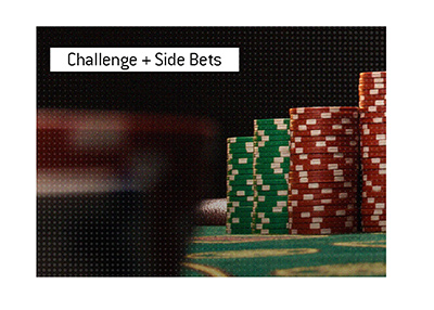 The most recent popular challenge in the poker world comes with juicy side bets.