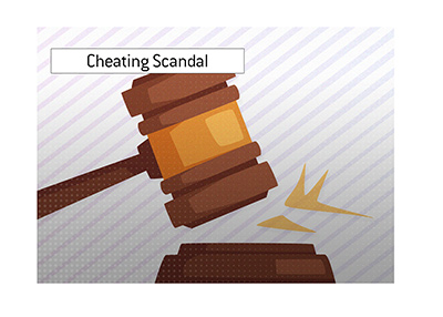 The cheating scandal court decision has been made.