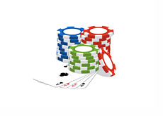 Poker Cards and Casino Chips - Illustration
