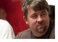 Chris Moneymaker with a smile on his face