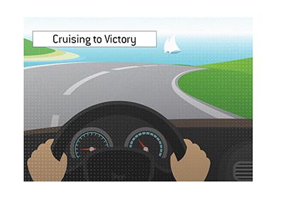 Cruising to Victory - Illustration.