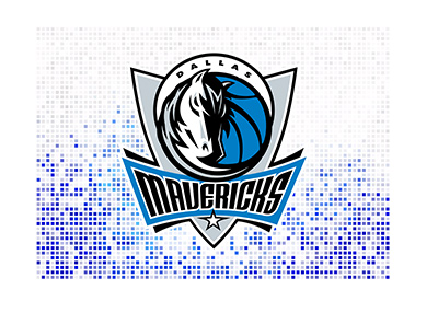 Dallas Mavericks logo over a digital background.  Year is 2018.