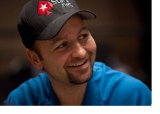 Daniel Negreanu smiling in a blue shirt