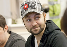 Daniel Negreanu looking upbeat at the poker table