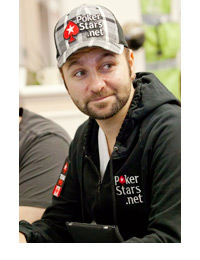 Daniel Negreanu at the poker table wearing a checkered hat