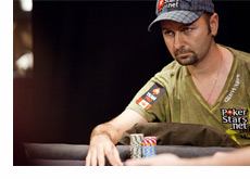 Daniel Negreanu looking very serious at the poker table
