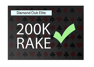 200k rake achieved.  Diamond Club Elite membership.