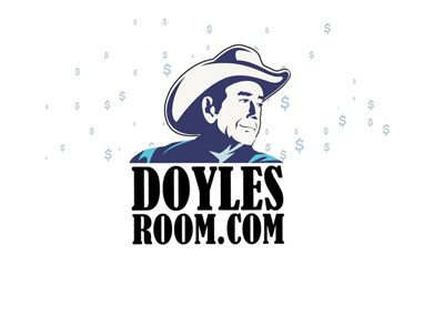 DoylesRoom.com retro logo with dollar signs in the bacground.