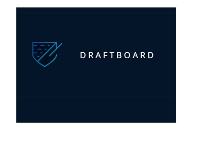 Draftboard logo - 2017 version - Blue background.