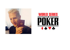 Elky Bertrand Grospellier with his new passport - WSOP logo