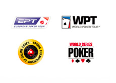 EPT, WPT, SCOOP and WSOP logos