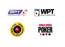EPT, WPT, SCOOP and WSOP logos