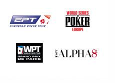 European Poker Tour London - World Series of Poker Europe - WPT Alpha 8 - WPT Grand Prix Paris - Tournament Logos